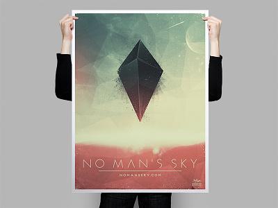 No Man's Sky poster design game no mans sky space