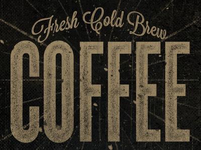 Fresh Cold Brew Coffee