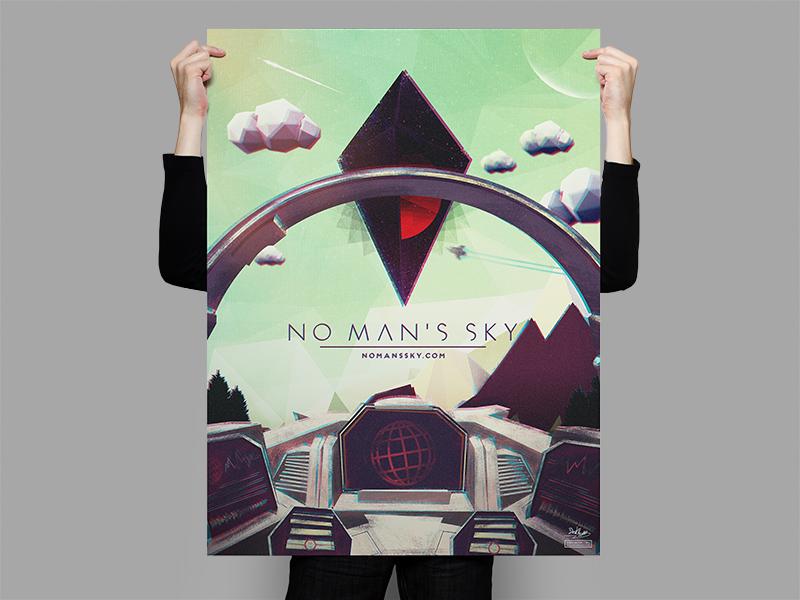 No Man's Sky Cockpit Poster By Derek Brown