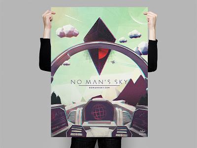 No Man's Sky Cockpit Poster no mans sky poster design illustration texture space low poly