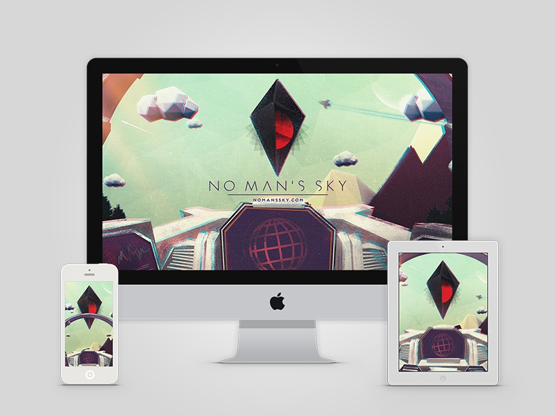 No Man's Sky Cockpit Wallpaper Freebie no mans sky indie game low poly illustration texture wallpaper freebie