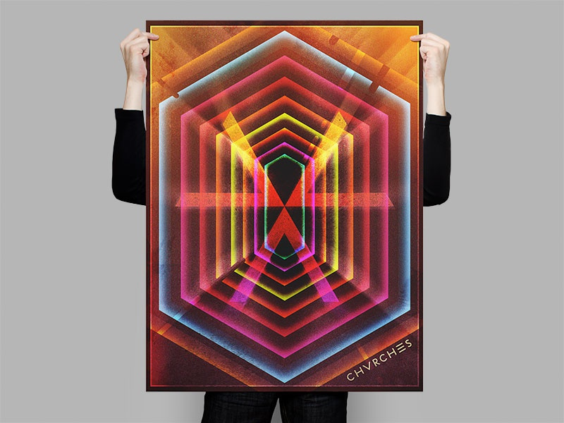 Chvrches Lights Poster synth band noise light texture neon poster chvrches