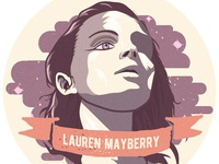Lauren Mayberry Sticker