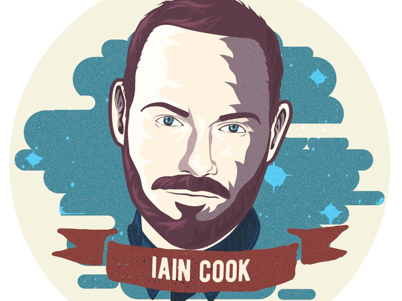 Iain Cook Sticker design sticker illustration synth iain cook chvrches
