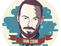 Iain Cook Sticker