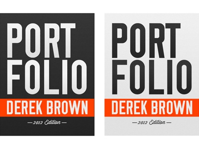 portfolio cover design 2012 by derek brown dribbble