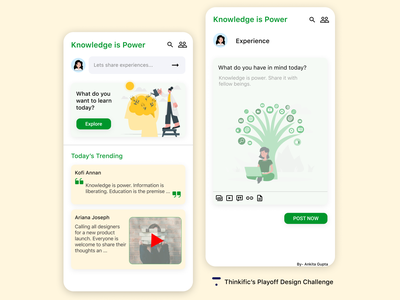 Knowledge is Power. Share it! design challenge challenge typography ux ui graphic design ui design power knowledge knowledge is power thinkific design