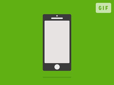 Desktop to phone animation animation gif animated gif line drawing flat icons icon