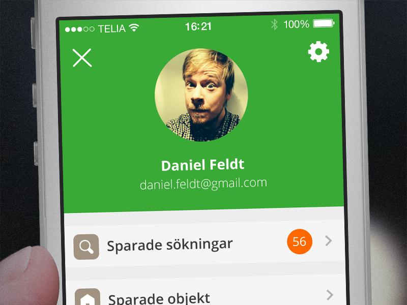 Hemnet ios user screen small