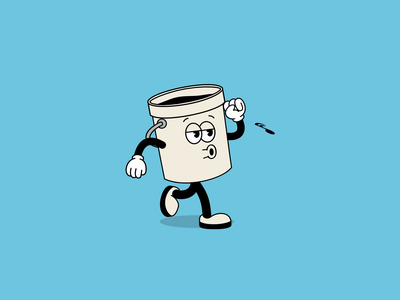 Color Tap - Bucket Walk Cycle animation 2d illustration walk cycle walk animation walkcycle