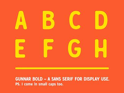 Gunnar Bold - A font in progress gunnar gunnar bold typography type sans serif font glyphs glyph display headlines