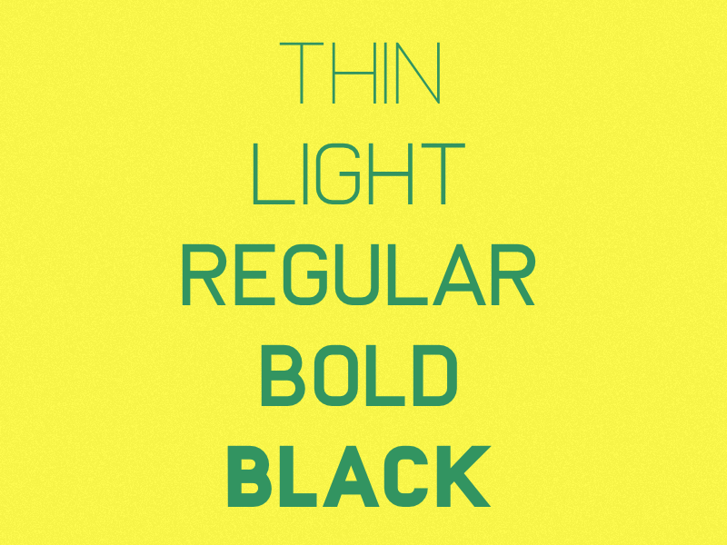 Untitled typeface   weights