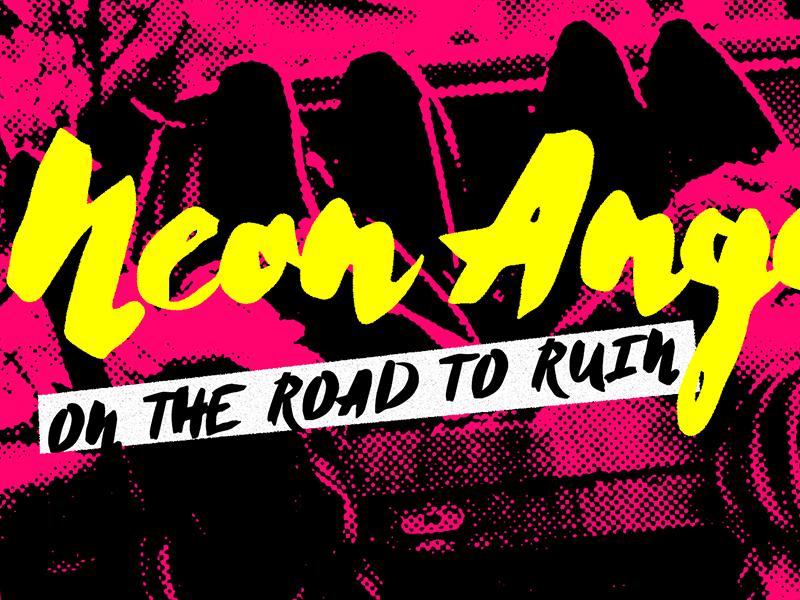 Cherie Bomb - Brush font punk punk-rock rock display type display typeface font script font brush font