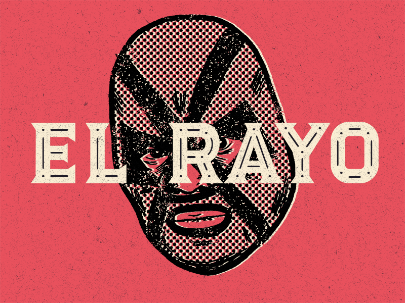 Luchador - el Rayo - New typeface! type design lucha libre illustration type packaging branding wrestling typeface font luchador