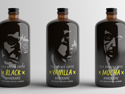 Cold Brew Coffee Packaging portraits coffee packaging typography type design typedesign fonts font