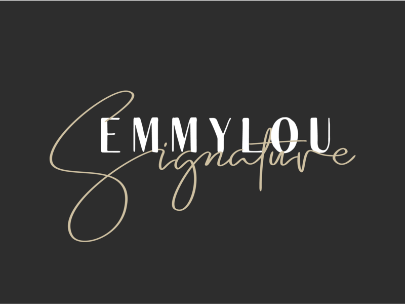 Emmylou - A font duo with 10 free logo templates
