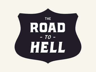Road to hell - Brickton - Font in progress badges badge vector fonts type design typography typeface type font