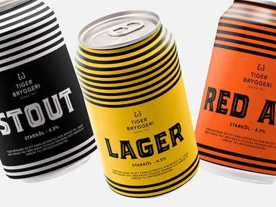 Tiger Bryggeri - Beer packaging fonts packagedesign packaging branding type design typography typeface type font