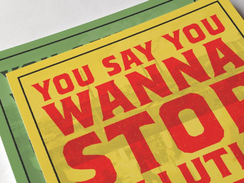 Brickton on a poster