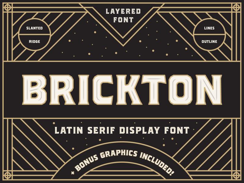 Brickton - Latin serif display font