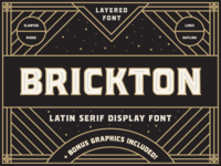 Brickton - Latin serif display font