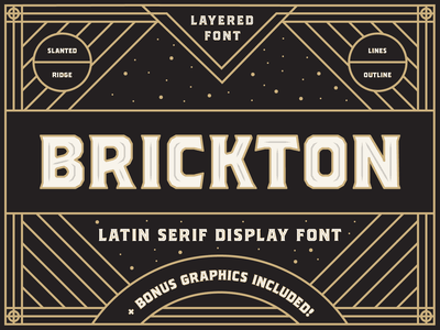 Brickton - Latin serif display font vector design type design typography typeface type font