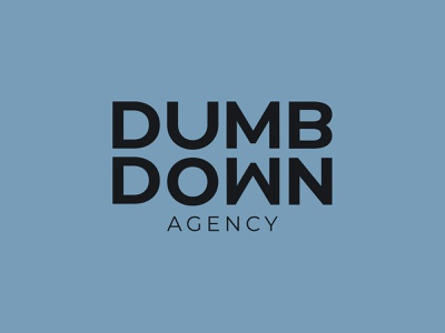 DUMB DOWN AGENCY typography logo