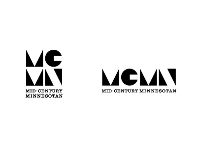 Mid-Century Minnesotan Logo mid-century modern logo design modernism minimalism clarendon geometric soulseven mid-century mcm logo