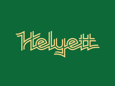 Helyett - Logotype bicycle branding inline monoline bicycle french helyett typography logotype logo