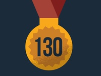 Infographic medal