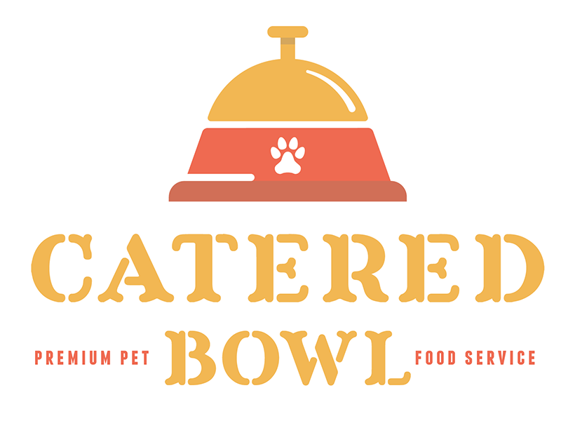 Pet Food Service Logo bell bowl catered logo service food pet