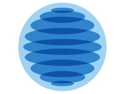 WIP Identity for philanthropic group cutting room floor circle logo overlay blue ripple water