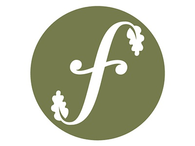 Founders Circle Logo italic green organic leaf f logo circle founders