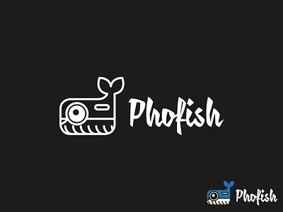 Phofish Logo logo design fish fishing socialmedia secialnetwork logotypo logotype