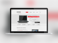Laptop Website Mockup