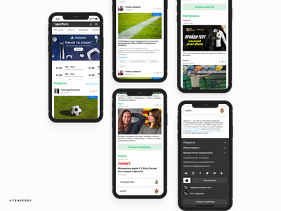 UX/UI mobile website sport figma web ux ui