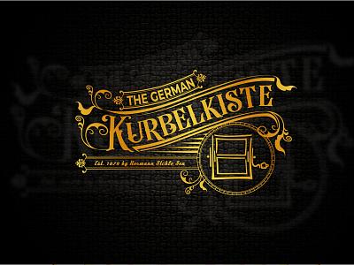 logo The German Kurbelkiste typhography art minimalist vintage logo design design logo