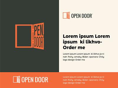 Open Door motion graphics branding logo graphic design 3d animation