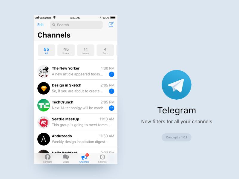 Filter channel telegram