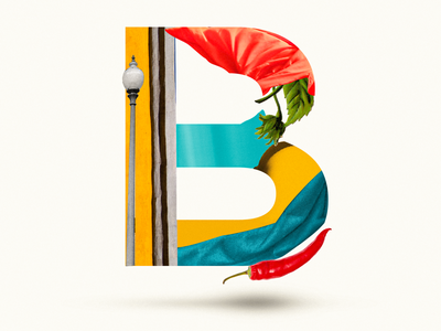 B lettering letter typogaphy chily 36 days of type b 36daysoftype07 36daysoftype typography typo illustration collages collage digital graphicdesign collage art collage maker collageart collage graphic