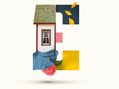 E letter abstract flower 36daysoftype07 36days 36daysoftype leaf window collage art house collages collage colors graphic design graphicdesign collage digital illustration collage maker collageart graphic