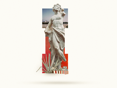 I typogaphy lettering classic statue letter i i 36 days of type 36daysoftype07 36daysoftype 365 typography design graphicdesign collage digital collage art illustration collage collage maker collageart graphic