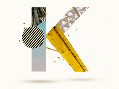 K letter lettering k 36 days of type 36daysoftype07 36daysoftype abstract minimal collage art collages illustration collage maker collage typo colors photoshop collageart collage digital graphicdesign graphic