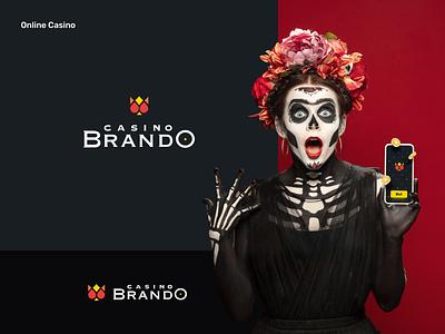Branding for Online Casino poker branding online casino concept logo illustration creative design