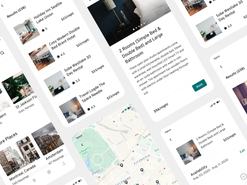 Midori Travel UI Kit travel app mobile card figma components uidesign ui design ui kits ui kit