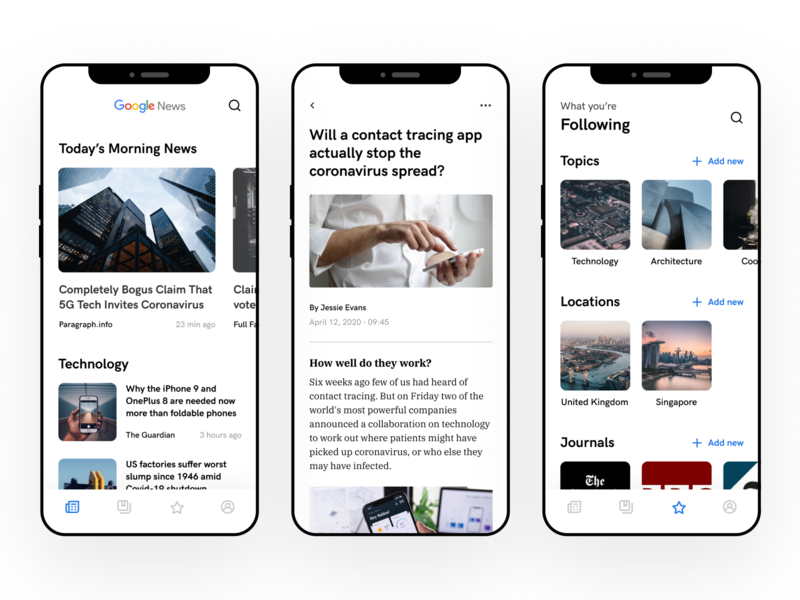 Google News Redesign redesign news google news google mobile app uidesign ui