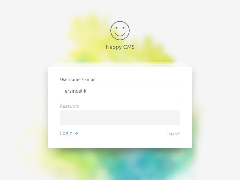 Login Screen cms input form login