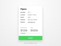 Startup Sidebar Card [WIP]