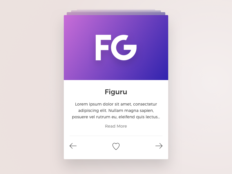 Sartup Card View arrow prev next ui fg gradient web app love like card startup