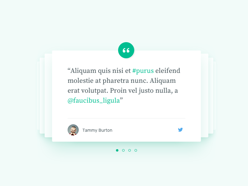 Quotes Section [wip][2] card bullets blockquote carousel tweet quote